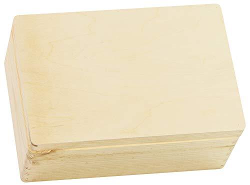 LAUBLUST Große Holzkiste mit Deckel - 30x20x14cm, Natur, FSC® | Allzweck-Kiste aus Holz - Aufbewahrungskiste | Geschenk-Verpackung | Deko-Kasten zum Basteln | Spielzeug-Truhe | Erinnerungsbox