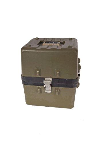 Bundeswehr Thermodyne Transportkiste Kunststoff oliv gebraucht 33,0 x 29,0 x 35,5