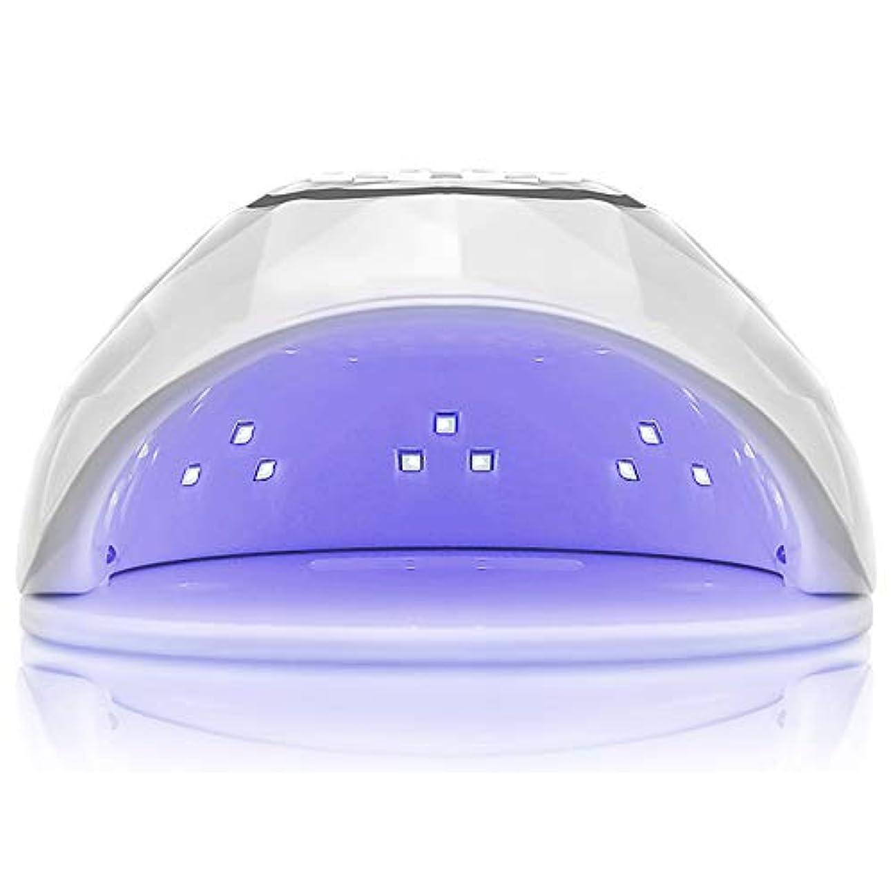 シャンプーマリン歌詞72W UV LEDネイルドライヤー速硬化ランプ用ジェルネイルポリッシュおよびトゥーンネイルキュアリングおよび自動センサー,White
