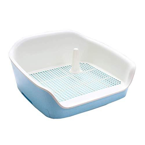 LT Haustier-Hundetoilette im Innen- und Außenbereich Leicht zu reinigender spritzwassergeschützter Zaun Haustierbedarf (Color : Blue, Size : L)