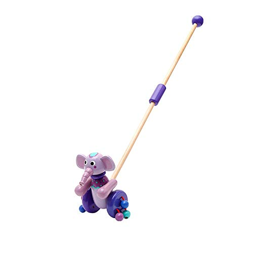 Why Choose HOMESROP Toddler Push Along Wooden Animal with Flappy Feet for Boys or Girls (Color : A)