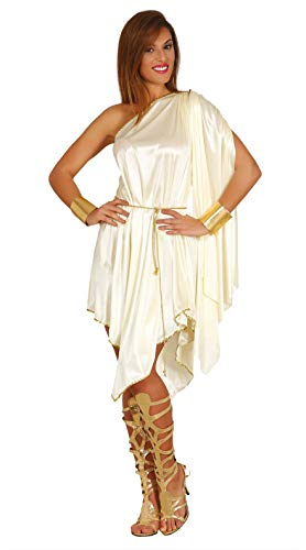 FIESTAS GUIRCA Disfraz Corto Mujer Griega Diosa del Olimpo Talla l