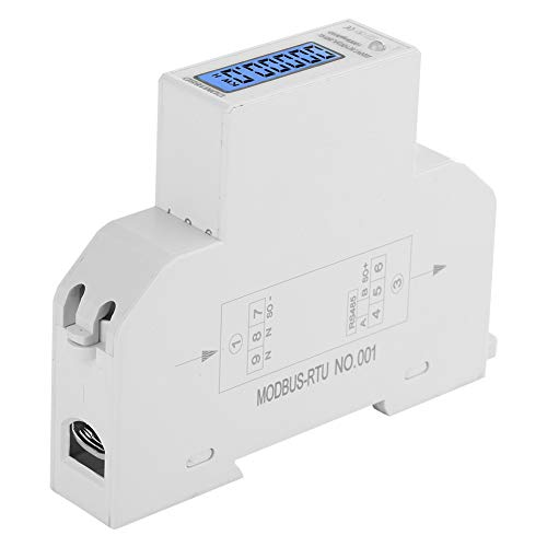 Yissone LCD-Digitalanzeige EIN-Energie-Wattmeter LCD-Digitalanzeige Einphasen-Din-Rail-Energiezähler Einpolbreite