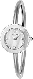 Invicta Women's Gabrielle Union Quartz Watch with Stainless-Steel Strap, Silver, 3.5 (Model: 23258)