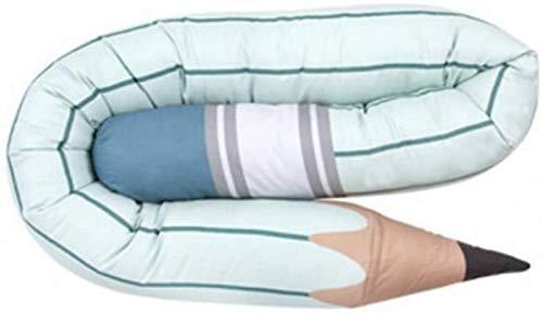HKX Parachoques de Cama Estilo Pluma Cuna de bebé Parachoques Cama Parachoques Cojín cómodo Valla de bebé Juguete de decoración de guardería (190 cm de Largo)