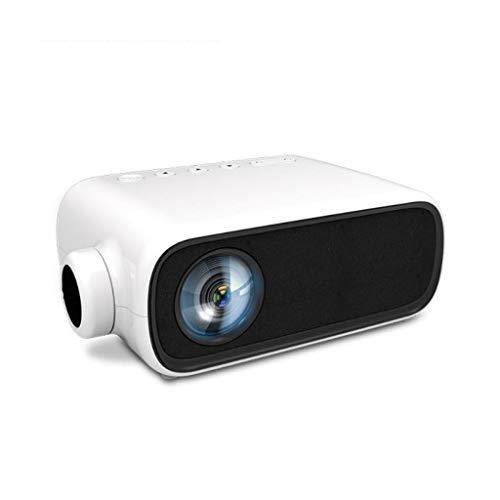 HDDFG Nuevo YG280 Mini proyector LED para el hogar portátil Full HD 1080P Proyector de Entretenimiento Cine en casa Proyector de Cine (Color : White)
