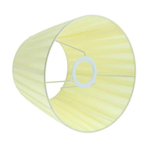 VANKOA Modernes Gewebe Easy Fit Deckenpendelleuchte Drum Light Shades Tischlampenschirm - Gelb
