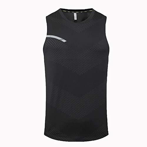 Hong Yi Fei-Shop COMPRESIÓN DE COMPRESIÓN Hombres TOKS Tops Tops Dry FIT GIMNY CULTANTE DE CULTANDO DE CULTANTE Fitness Mujer Muscles (Color : Black, Size : Large)