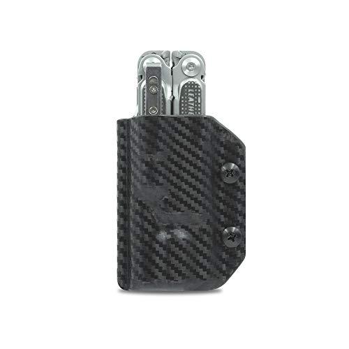 Clip & Carry Kydex Fourreau multifonction pour Leatherman Free P2 – Fabriqué aux États-Unis (outil multifonction non inclus) EDC Étui pour outil multifonction (fibre de carbone noir)