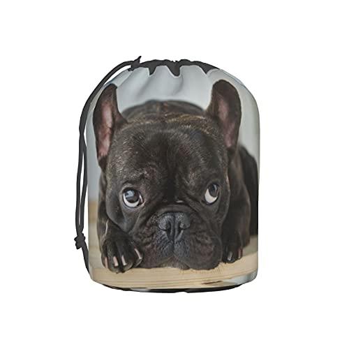 Black French Bulldog Makeup Bag Toiletry Bags Bucket Cosmetic Bags For Women Travel Portable Organizer Bag