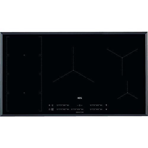 Aeg - Piano Cottura Ad Induzione Ike 95471 Fb in Vetro Bisellato Nero da 91Cm