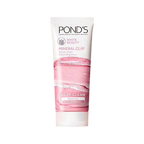 Pond's White Beauty Mineral Clay Instant Brightness Face wash Foam