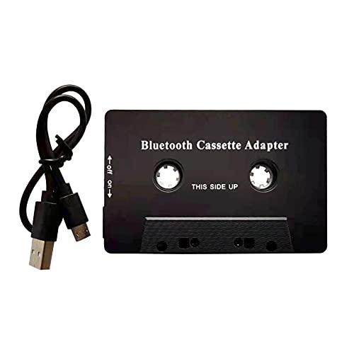 POHOVE - Adattatore audio-cassette audio/ricevitore Bluetooth per auto, adattatore per cassette auto, lettore audio/cassette audio, adattatore Aux per auto, telefono, Mp3 Ect, colore: Nero