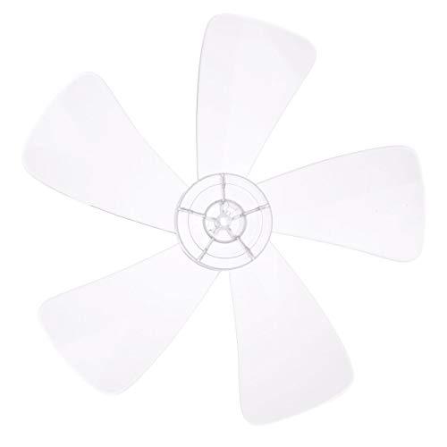 IEFIEL Aspas del ventilador Aspas Hojas Plásticas de Ventilador Con/Sin Tuerca para Ventilador de Techo Ventilador de Pie Mesa Repuestos Ventilador Transparente 5 Hojas 16 inch