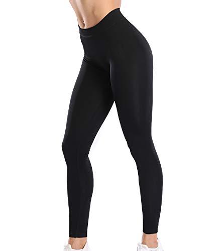 KIWI RATA Leggings Pantalón Mujer Cintura Alta Vestir Mallas Pantalones Deporte Yoga Leggins Largos Fitness Elásticos Suaves y Ajustados, Talla única