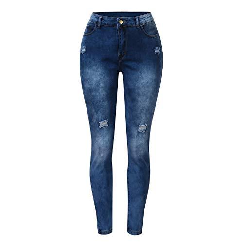 LEEDY Frauen Hohe Taille Stretch Jeans HüFtjeans Damen Blaumann Jeans Jeanshosen Damen