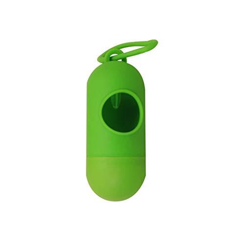 Caja de Bolsa de pañales Colgante de plástico portátil Caja de Almacenamiento de Bolsa de Basura de Basura para bebés (Verde sólido)