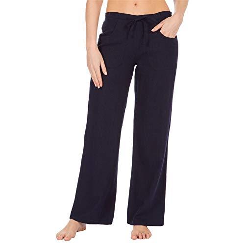 Style It Up - Pantalones de lino para mujer, estilo informal