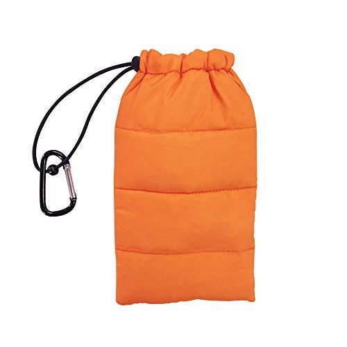 ZOOMHILL Thermo-Handytasche für Camping, Wandern, Bergsteigen, Zubehör für iPhone X, 8, 8 Plus, 7, 7 Plus, 8, Samsung Galaxy, Organizer, Taschen, Schlüssel, Münzen, Clutch Einheitsgröße Orange
