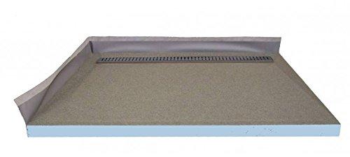 befliesbares Duschelement 90x75 cm mit Edelstahlrinne 70 cm - komplett
