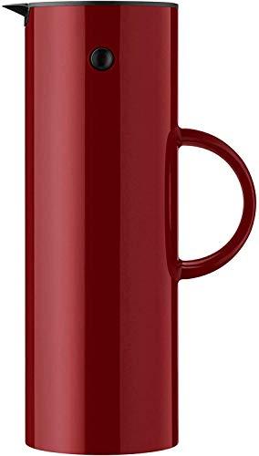 Stelton EM 77 Isolierkanne, Kaffeekanne aus Kunststoff, Maroon-rot, 1 Liter