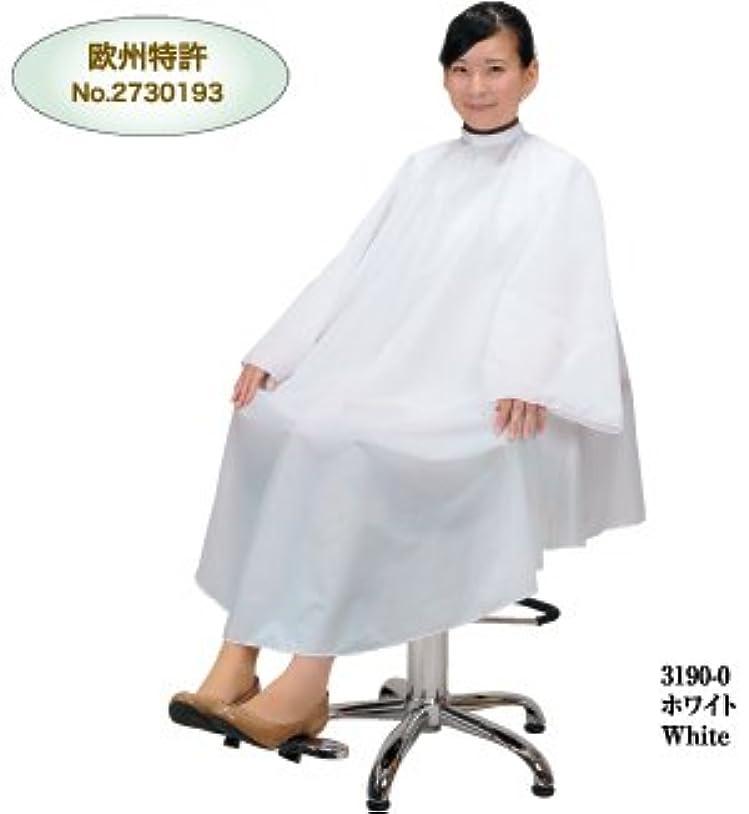 振り返るブリリアント動詞No.3190 ネックガードドレス ホワイト