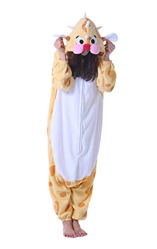 Jumpsuit Onesie Tier Karton Fasching Halloween Kostüm Sleepsuit Cosplay Overall Pyjama Schlafanzug Erwachsene Unisex Lounge Stachelschwein S(148-155CM)