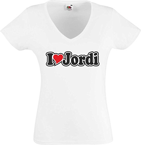 Black Dragon - Camiseta mujer Blanco Cuello pico - Amo con corazon...