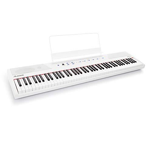 Alesis Recital White - Piano Numérique de Couleur Blanche avec Un Clavier de 88 Touches...