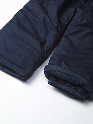 LONDON FOG Boys' Ski Jacket & Ski Pant 2-Piece Snowsuit, Red Black Stripe, 3 Years