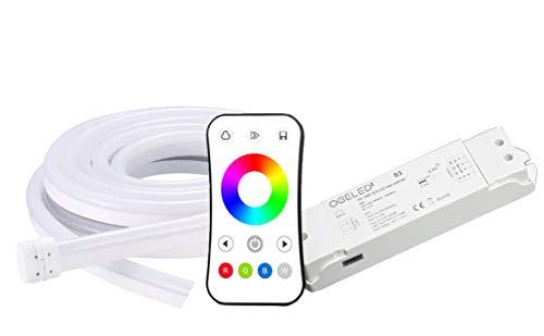 Ogeled Neon RGB LED Streifen 1-50m mit S3 Kontroller Neonflex diffus diffusion Strip Band leisten wasserfest IP65 (6M)