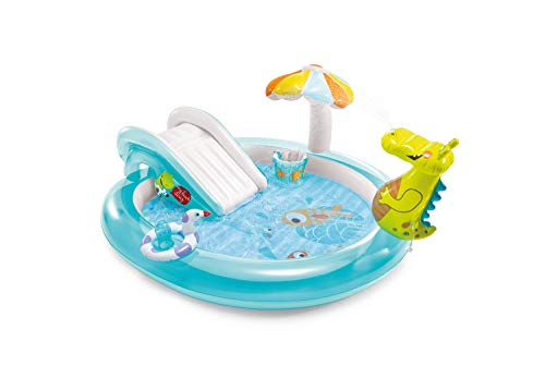 Intex 57165 Play Center Piscina Alligatore Con Spruzzo, 201 x 170 x 84 cm