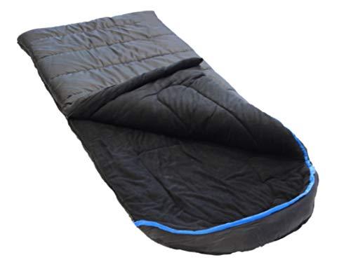 Ledge Sports Big Horn +0 F Degree XL Oversize Fleece Lined Sleeping Bag (90 X 40, Black)