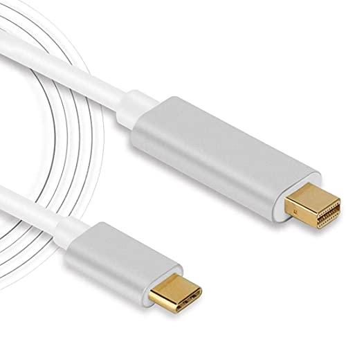Cable adaptador USB C a Mini DisplayPort 4K (3840 x 2160) @ 60Hz 1.8M/6FT USB tipo C a Mini DisplayPort Mini DP