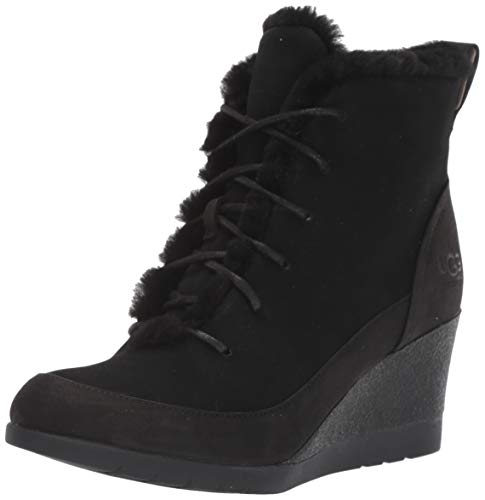 UGG Women's Bridgit Ankle Boot, Black, 6 M US