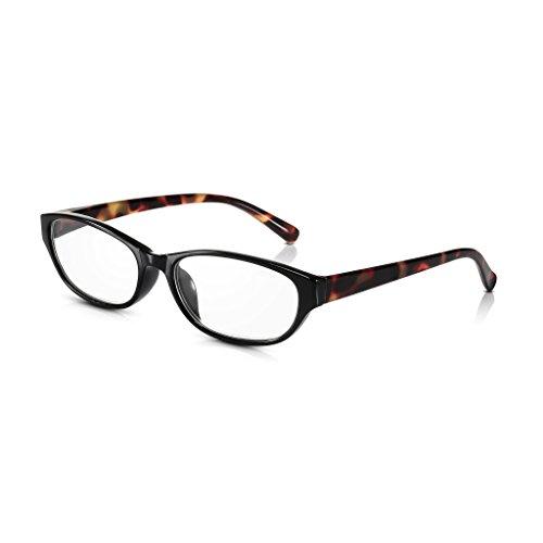 Read Optics Gafas de Lectura Vista de Mujer: Montura Estilo Retro Audrey Hepburn de Ojos de Gato en Marrón Tortoise – Ligeras y Resistentes de Policarbonato con Lentes Transparentes + 1.5 Dioptrías