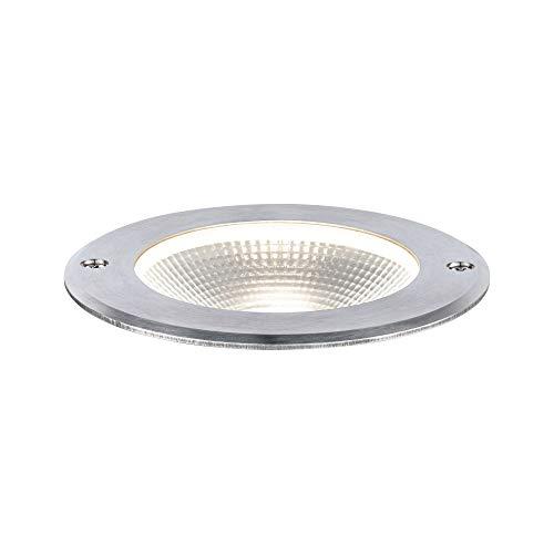 Paulmann 94387 Floor - Lampada a LED da esterni IP67, luce bianca calda, incl. 1 x 6 Watt, illuminazione per esterni in acciaio inox, in alluminio, 3000 K