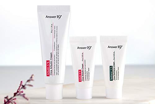 [ANSWER NINETEEN+] CICA Arbutin Cream Set (50g+15g+15g) - Arbutin 5%, Moisturizing, Anti Wrinkle, Improve Skin Tone Up, Helps to Improve Spots, Freckles, Dullness