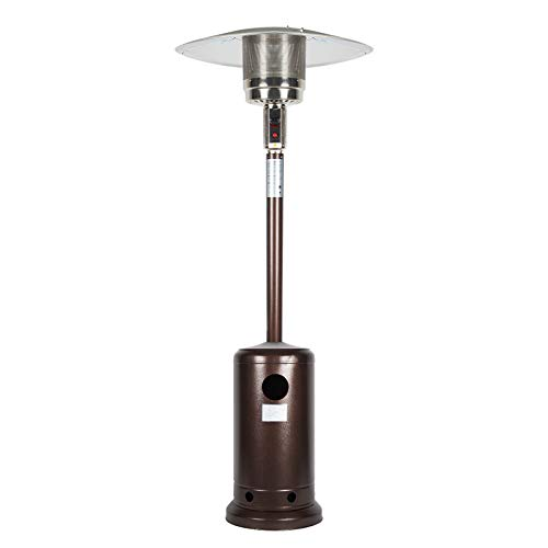 Nazhura Outdoor Mushroom Heater for Patio 46,000 BTU Outdoor Patio Heater Propane Infrared Patio Heater Stainless Steel Umbrella Style for Porch Deck and Backyard Bronze Colored