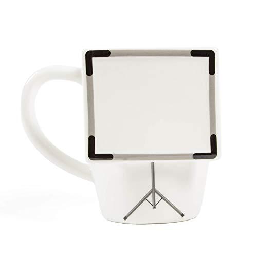 el und groove 3D Whiteboard Tasse weiß groß, Kaffeetasse 350 m, Tasse fürs Büro, Tee-Tasse aus Porzellan, Büro Deko, Tasse Flipchart, Tasse zum Beschriften, Spruch Tasse, Deko Becher, Geschenkidee
