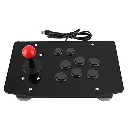 SODIAL Spiel Handle Controller, Schwarze 3D Karten Tasten Acryl Schale VerschleiiFestigkeit Rocker Arcade Controller