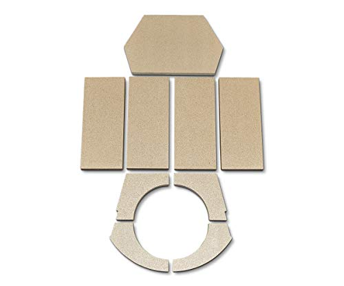 Feuerraumauskleidung für Dan Skan Topo Kaminöfen - Vermiculite - 9-teilig