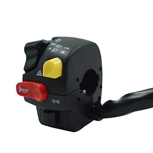 Langrms - Interruptor para manillar de motocicleta de 7/8 pulgadas, montaje de bocina, faro antiniebla, luz de advertencia