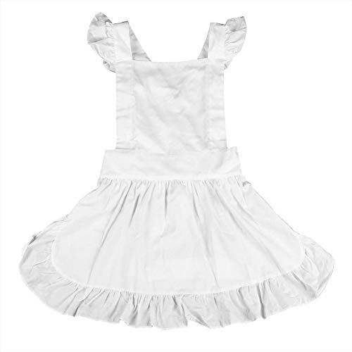 Petite Maid Vintage Wit Prinsessin ruches retro schort keuken koken schoonmaken kostuum Cosplay kostuum voor meisjes vrouwen