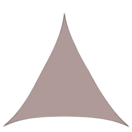 Sun Shade Sail Triangle Waterproof, For Deck, Patio, Pergola, Backyard Outdoor(Sand), Super Durable Heavy Duty, Outdoor Shade Sail(Size:2X2X2m,Color:brown)