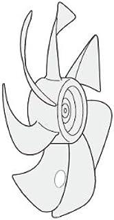 パナソニック Panasonic 扇風機 羽根 FFE2340257