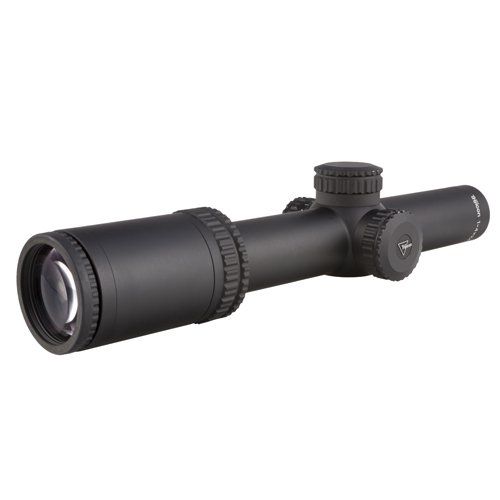 Trijicon RS24-C-1900006 AccuPower 1-4x24mm Riflescope, 30mm Main Tube, Duplex Crosshair Reticle with Red LED, Matte Black