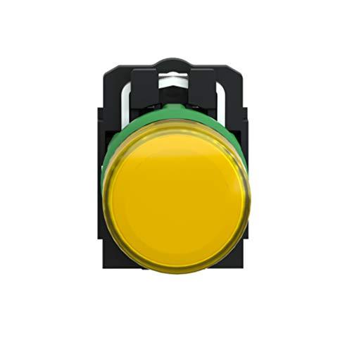 Schneider Electric XB5AVM5 Piloto Luminoso LED Integrado, 230V, 22mm Ø, 54mm x 30mm x 42mm, Naranja