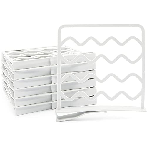 Juvale Grey Shelf Dividers for Closets, Spacers for Shelves (10.8 x 10 in, 12 Pack)