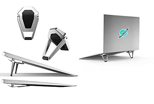 Mywilon Supporto PC Portatile Pieghevole Ergonomico invisibile – Supporto Tablet e Tastiera senza fili Antiscivolo – Accessorio Gamer per Laptop (10-17 Pollici) MacBook Pro Air Apple Asus Lenovo Dell